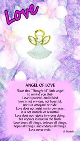 z Affirmation Angel Pin - Angel of Love