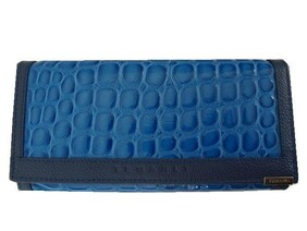 Genuine Leather Wallet / Blue