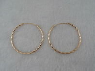 Sterling Silver - Rose Gold Plated Hoop Earrings