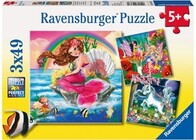 Ravensburger Puzzle - Mythical Creatures 3x49pc