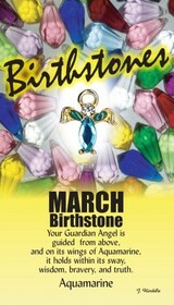 z Affirmation Angel Pin -Birthstone March