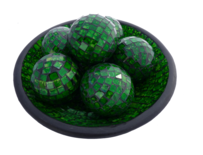 Mosaic Ball 8cm / Green