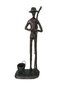 Iron Sculpture Fisherman