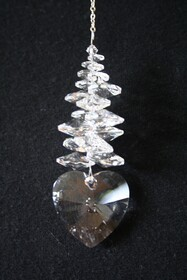 Ice Crystals - Clear Heart 28mm