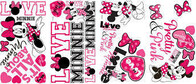 RoomMates Peel and Stick Wall Decals/Minnie Loves Pink