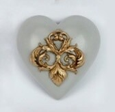 Collectable Heart - Gold Deco
