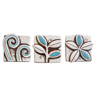 Set of 3 NZ Art Work - Teal