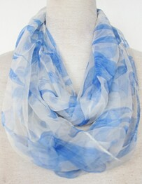Scarf - Blue Print Snood