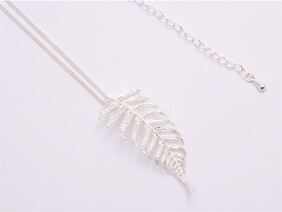 Necklace - Dainty Silver Fern