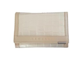 Genuine Leather Wallet / Pearl 12cm