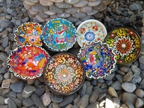 Hand Painted Ceramic Turkish Bowls - 7cm