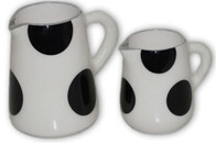 Aluminium Milk Jug (large) - Black and White
