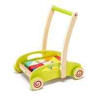Wooden Trolley with Blocks - Hape