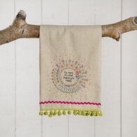 Linen Hand Towel - Do More Of Happy