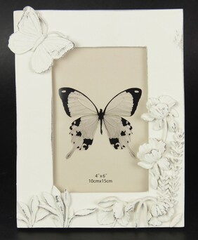 Photo Frame - Chic Butterfly & Flowers