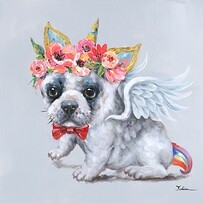 Canvas Wall Art - Puppy Angel