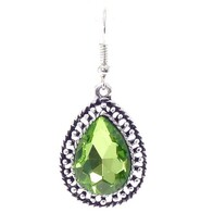Earrings - Peridot Teardrop