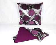 Cushion - Aubergine Dots