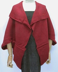 Cape - Waffle Knit Red