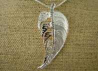 Necklace - White Fern (large)