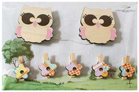 NZ Made Art Work Clips / Owls