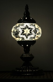 Turkish Mosaic Lamp - Small White