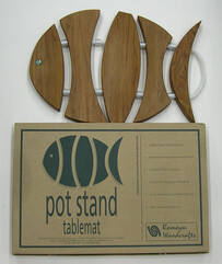 NZ Made Rimu Fish Pot Stand