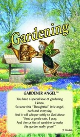 z Affirmation Angel Pin - Gardener Angel