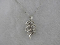 Sterling Silver - Wave Pendant
