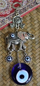 Lucky Eye Metal Wall Hanging - Elephant