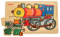Wooden Puzzle / Train