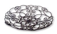 Metal Filigree Fruit Bowl