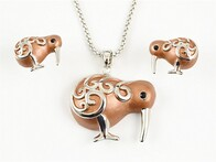 Necklace - Brown Kiwi Set