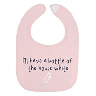 Baby Bib - House White