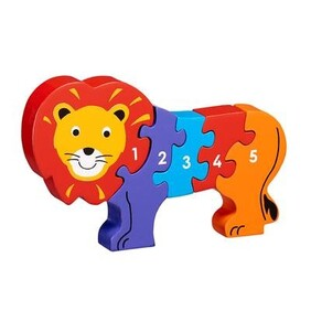 Wooden Puzzle - Lion 1-5 Counting
