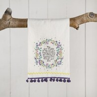 Linen Hand Towel - May Your Troubles Be Less