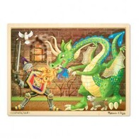 Knight vs Dragon Wooden Jigsaw Puzzle