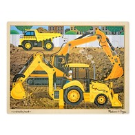 Construction Site Wooden Puzzle 24pc