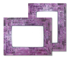 Mosaic Photo Frame / Purple