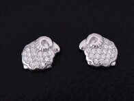 Sterling Silver - Sheep Stud