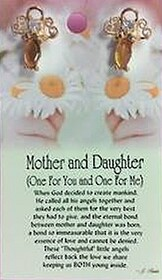 z Affirmation Angel Pin - Mother and Daughter
