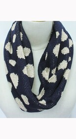 Scarf - Snood Navy Gold Spots