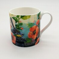 NZ Print Coffee Cup - Flower Fantail