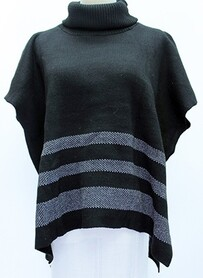 Poncho - Rolled Turtle Neck