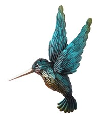 Metal Wall Art - Blue Humming Bird