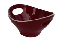Aluminium Bowl with Handles / Red