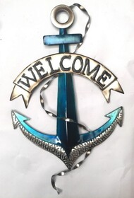 Metal Wall Art - Welcome Anchor