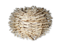 Rattan Lamp 25cm - Natural
