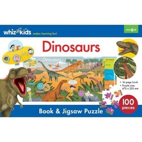 Whiz Kids Book & Jigsaw Puzzle - Dinosaurs