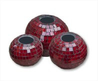 Mosaic Candle Ball / Red
